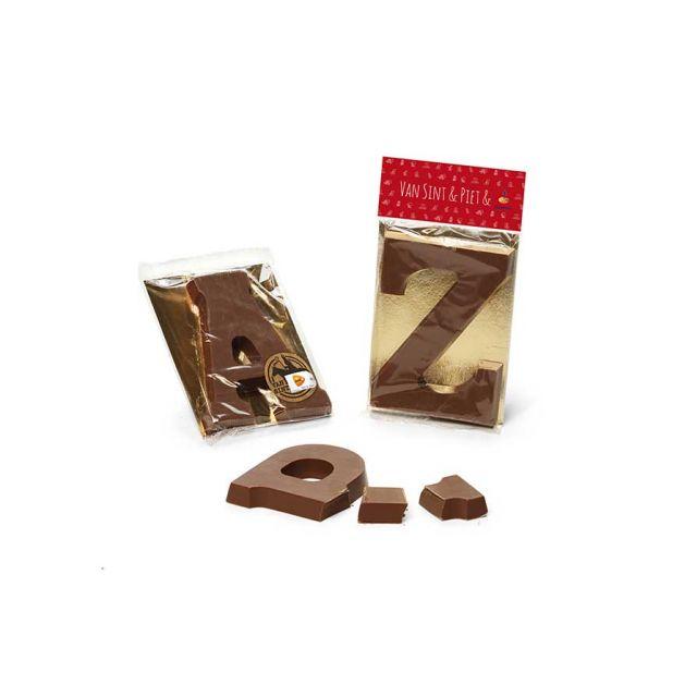 Chocoladeletter A t/m Z en 0-9 in flowpack, 135 gram