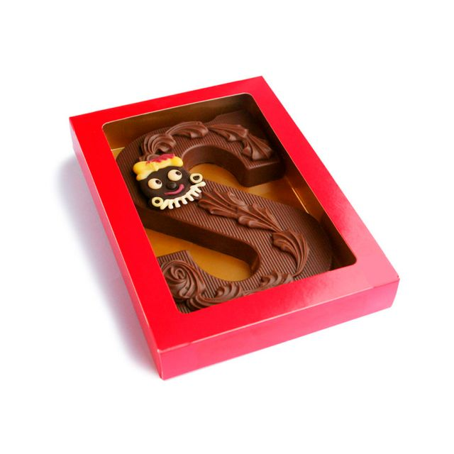 Chocoladeletter S decoratie, 200 gram