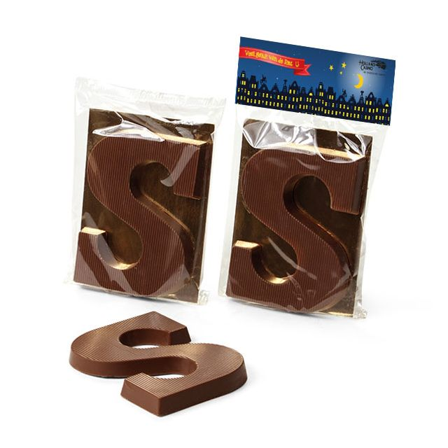 Chocoladeletter S, 75 gram