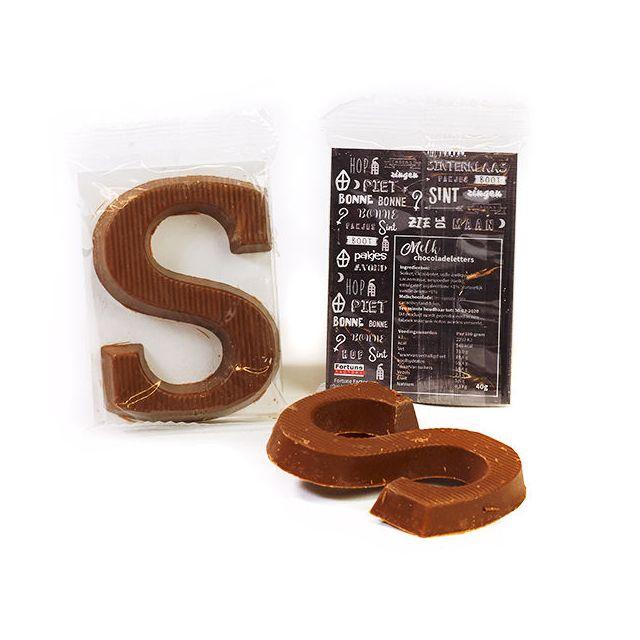 Schoenletter S, 40 gram - met eigen sticker / kaartje