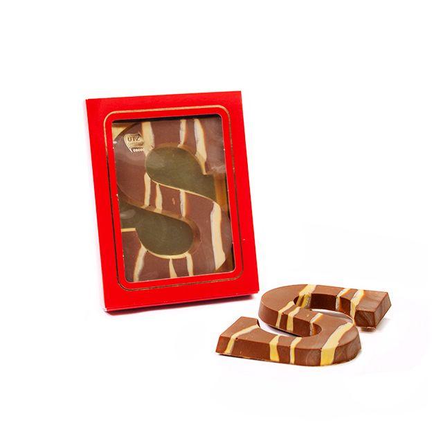 Chocoladeletter A-Z Marmer