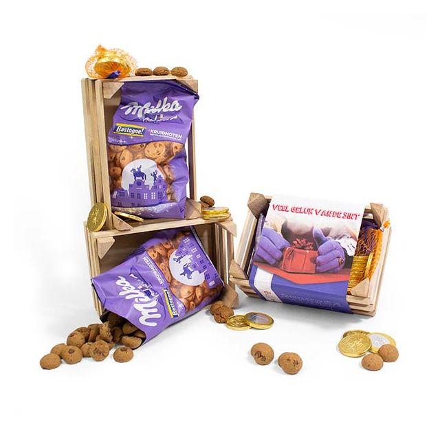 Milka Bastogne kruidnoten in houten kistje