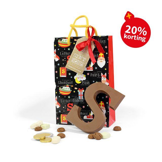 Sinterklaastasje met lekkernijen - groot