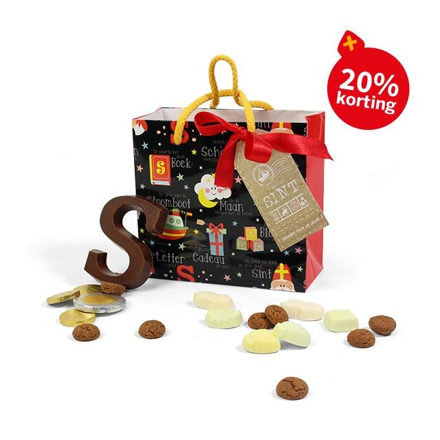 Sinterklaastasje met lekkernijen - klein