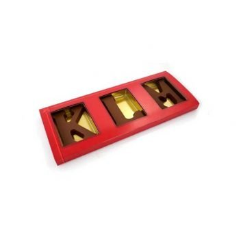 3 chocoladeletters in sleeve (A t/m Z) 3