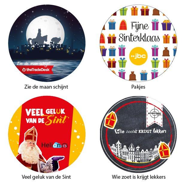 Stickers sinterklaas ontwerpen