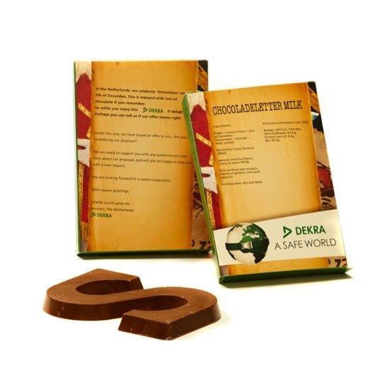 Chocoladeletter A t/m Z in eigen doosje 3