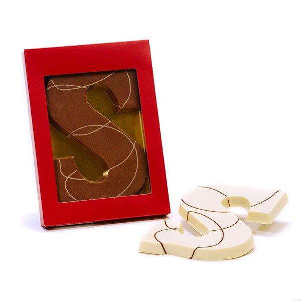 Chocoladeletter S Hazelnootpraline