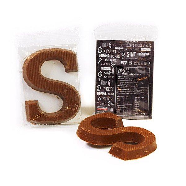 Schoenletter S, 40 gram – met eigen sticker / kaartje