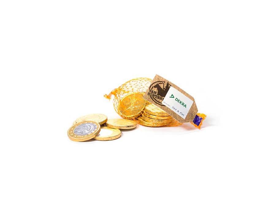 Chocolademunten in netje