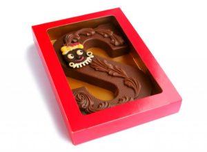 Chocoladeletter decoratie
