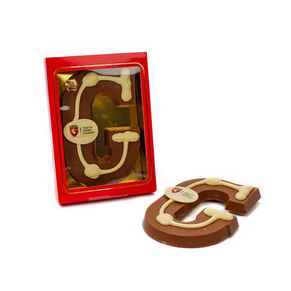 Chocoladeletter A t/m Z met eigen logo